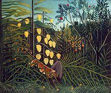 Henri Rousseau — Combat de tigre et buffle, 1891.