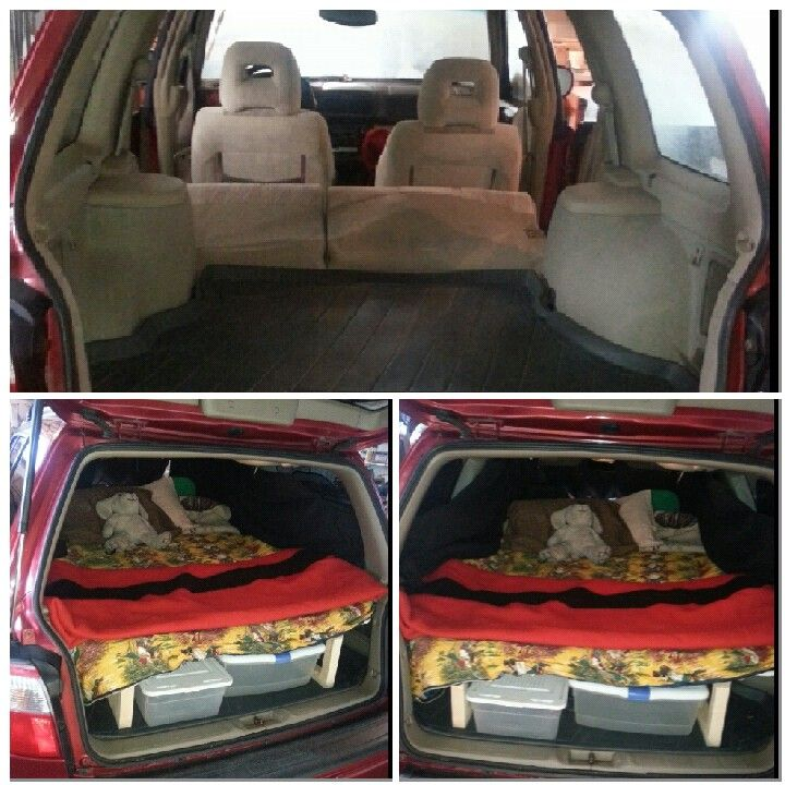 My Subaru Forester Into A Mobile Adventure House Built Folding Down Bed Frame With Lots Of Storage Underneath Time To Hit T