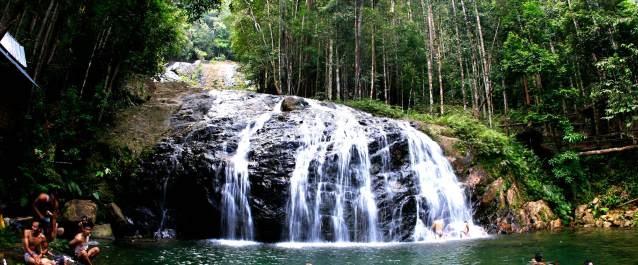Resun falls in Daik, Kabupaten Lingga, Riau islands, Indonesia.