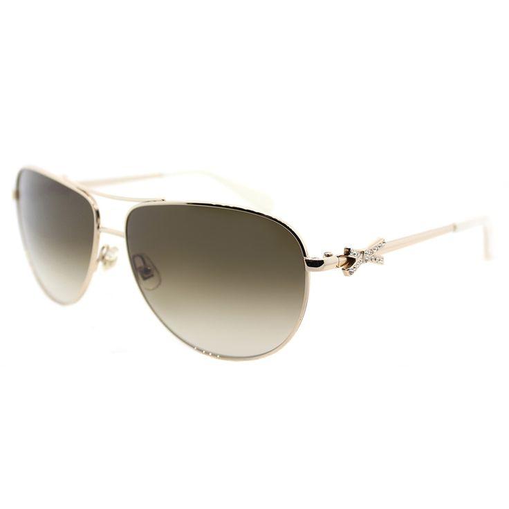 Kate Spade KS Circe2/P 3YG Light Aviator Sunglasses With Brown Gradient Lens