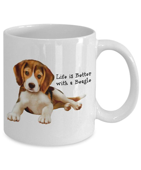 Life Is Better With A Beagle 11 Oz White Ceramic Coffee Mug For A