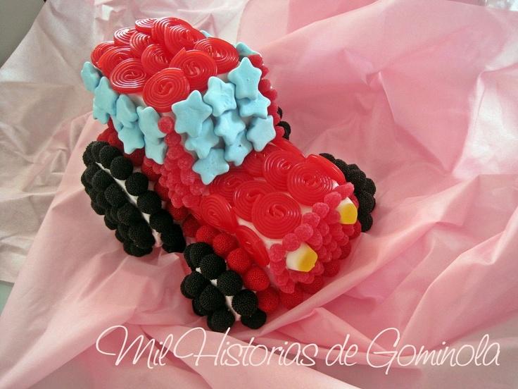Coche chuches, tractor, rojo, cumpleaños, comuniones, niños