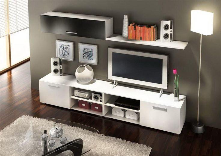 mueble tv centro de entretenimiento modelo horizon melamina  centro de entre...