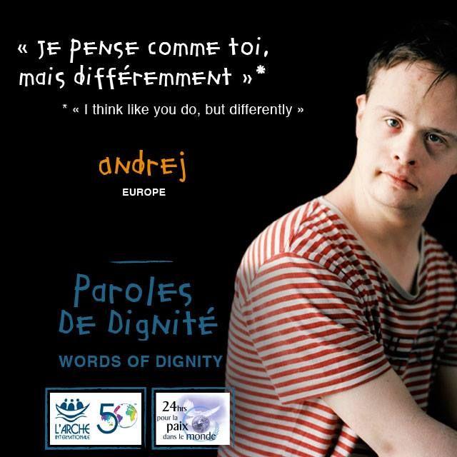 Paroles de dignité #larche #handicap #paix #peace