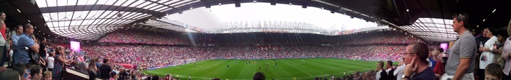 Our panoramic shot of Old Trafford, where Team GB took on Senegal in London 2012 Olympic men's football.