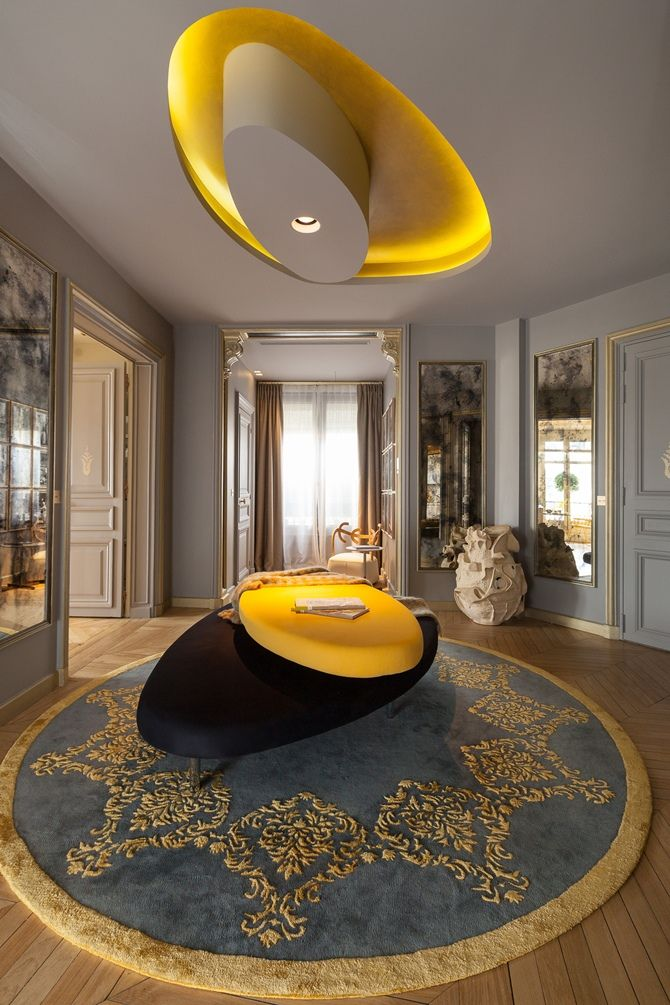Stunning Entry at a Parisian Apartment, designed by Gérard Faivre