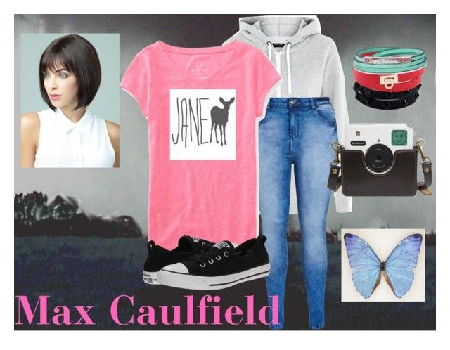 """""""Life is Strange: Max Caulfield"""" by kiki-the-kunoichi ❤ liked on Polyvore featuring New Look, City Chic, Aéropostale, Converse, LIU•JO, Salvatore Ferragamo and FOSSIL"""