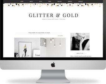 Glitter & Gold - Feminine Wordpress and Blogger Theme