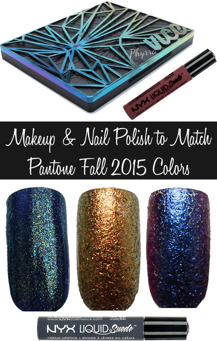 Phyrra shares makeup and nail polish picks to match the Pantone Fall 2015 colors. Biscay Bay, Stormy Weather, Amethyst Orchid, Reflecting Pond, Cashmere Rose, Cadmium Orange, Oak Buff, Desert Sage, Dried Herb, and Marsala colors are all featured. See swatches and looks with these beauty products!