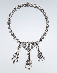 A LATE 18TH  EARLY 19TH CENTURY CUT STEEL NECKLACE