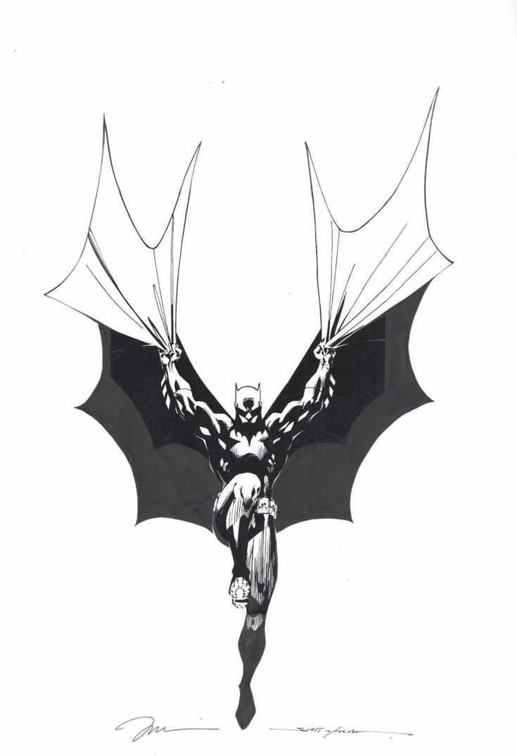 Jim Lee Scott Williams Batman, in Jason Peng's Original Batman Art ...
