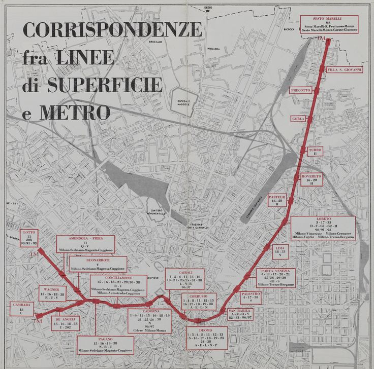 1969 subway map showing connections with bus lines