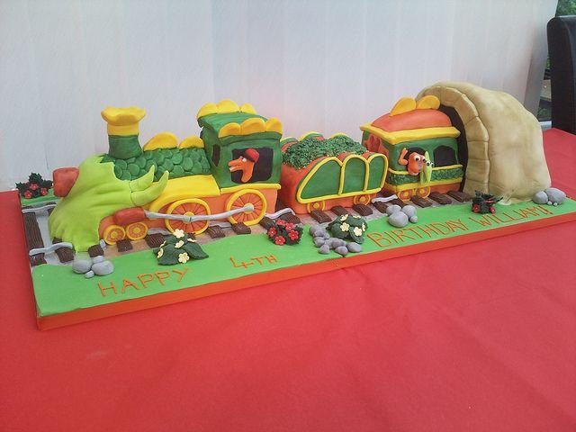 Dinosaur Train cake by Flo's Cakes, via Flickr