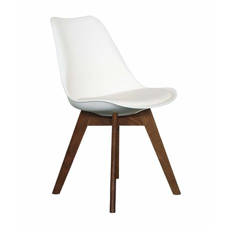 Jaden Dining Chair White / Walnut - By Design By Life