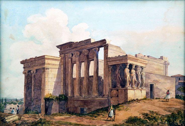 Άποψη του Ερεχθείου-1850, OGLE, John Connel, 1813-1877