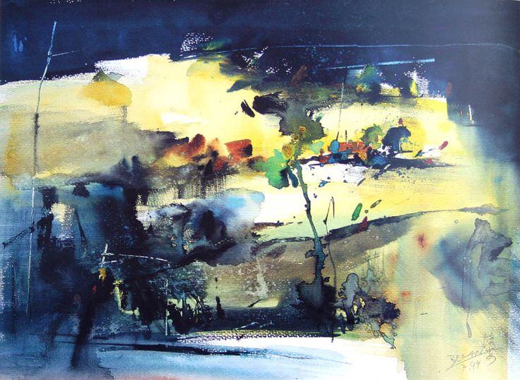 Абстрактная акварель китайского художника Cao Bei-An. Обсуждение на LiveInternet - Российский Сервис Онлайн-Дневников