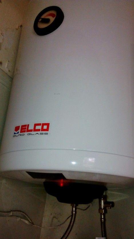 Δάφνη τοποθέτηση θερμοσίφωνα ELCO DURO GLASS 80lt www.ΥΔΡΕΥΕΙΝ.eu/θερμοσιφωνες.htm