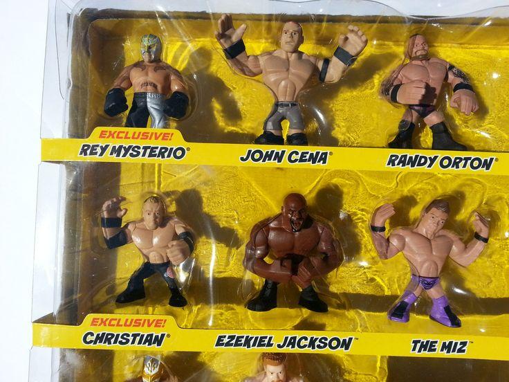 WWE Rumblers Blast & Bash Battle Ring Deluxe Playset. Includes Rey Mysterio, John Cena, The Miz, Randy Orton, Ezekiel Jackson, Alberto Del Rio, Dolph Ziggler, Christian, Sheamus & Sincara WWE Rumblers!.