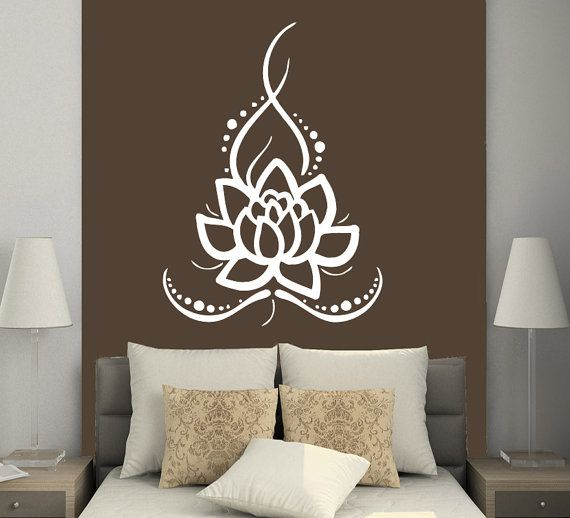 Wall Decals Yoga Lotus Indian Buddha Decal Vinyl Sticker