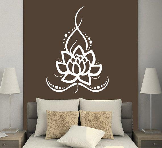 Wall Decals Yoga Lotus Indian Buddha Decal Vinyl Sticker Home Decor Bedroom Interior Design Art Mural