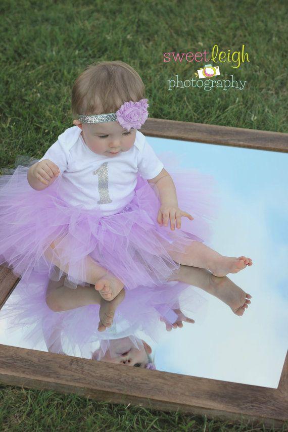Vestito di compleanno viola... Baby Girl primo compleanno Outfit... Tutu e camicia... Lavanda Tutu... Tutu compleanno insieme... Body glitter uno... Primo