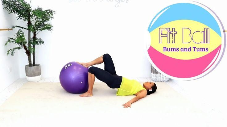 Exercise Ball Stability Ball Workout - BARLATES BODY BLITZ Fit Ball Bums...