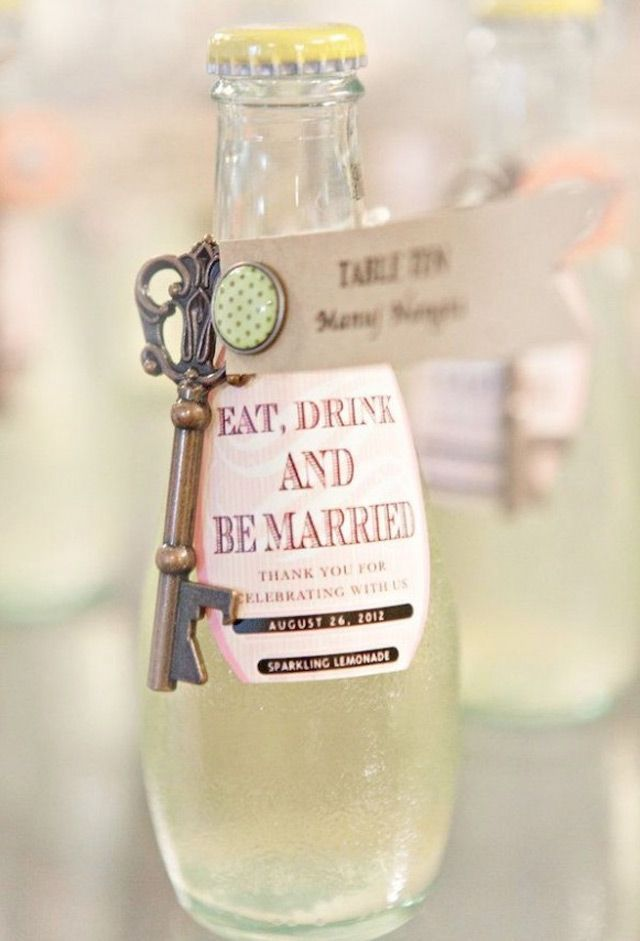 """Eat, drink, and be married."" This fun addition to a destination wedding welcome bag is sure to get your guests' attention!"