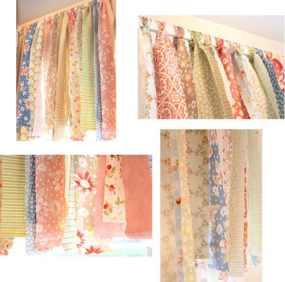 Rag valenceSewing Room, Kitchens Windows, Decor Style, Rag Valances, Shabby Chic, Girls Room, Chic Rag, Jelly Rolls, Cottages