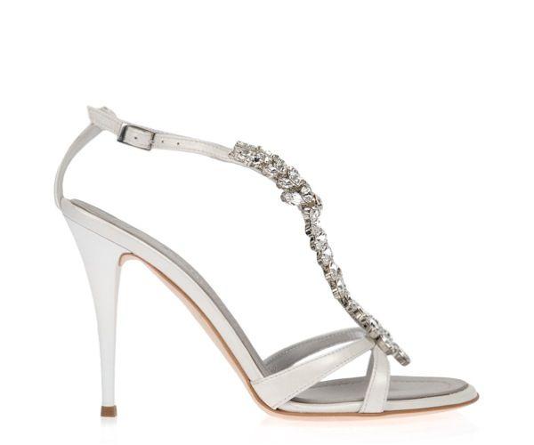 Precious, Ice White Giuseppe Zanotti Wedding Shoes