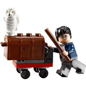 LEGO Harry Potter Mini Figure Set #30110 Trolley Bagged by LEGO. $19.15. 22 pieces. Includes Harry Potter and Hedwig (owl) minifigures. New Release for 2011!. This Harry Potter LEGO minifigure set depicts the trolley that Harry Potter used on Platform 9. It contains Harry Potter in casual clothing, Hedwig, a case, and a trolly.