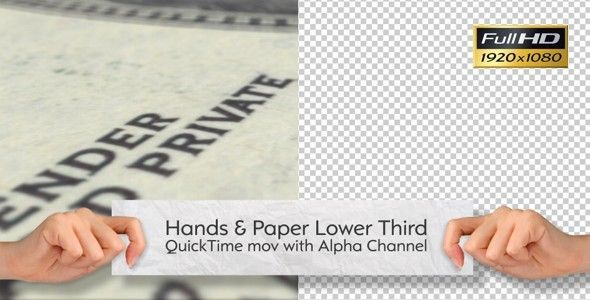 Hand And Paper Lower Third