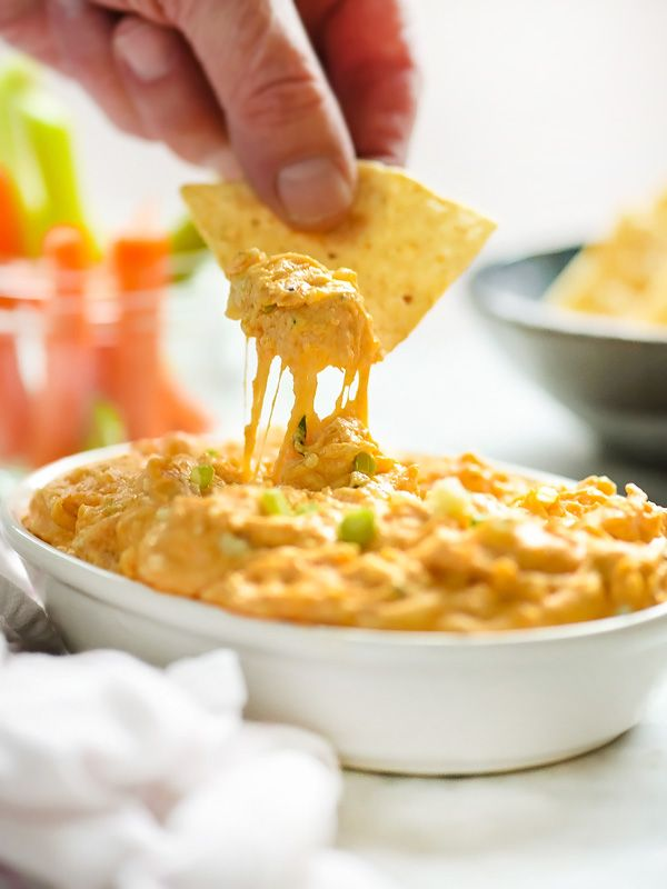 Slow Cooker Buffalo Chicken Dip | foodiecrush.com