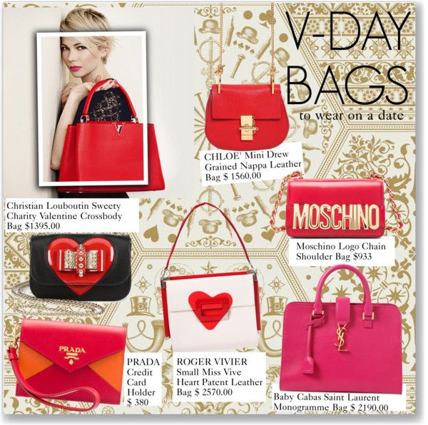 """""""V-DAY BAGS"""" by juliefox1999 ❤ liked on Polyvore"""