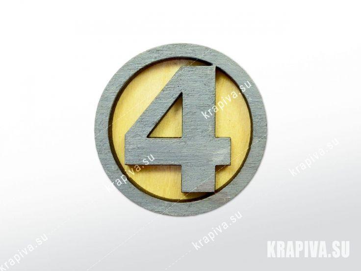 Фантастическая четверка лого  Деревянный значок брошь wood brooch handmade