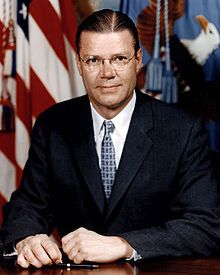 Robert McNamara, was an American business executive and the eighth Secretary of Defense, serving from 1961 to 1968 under Presidents John F. Kennedy and Lyndon B. Johnson, during which time he played a major role in escalating the United States involvement in the Vietnam War.