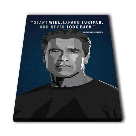 Arnold Schwarzenegger Quotes Canvas Giclee Print Painting