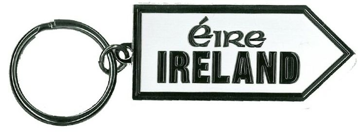Eire Sign Post Metal Keyring  http://paddywhackery.ie/home/keyrings/