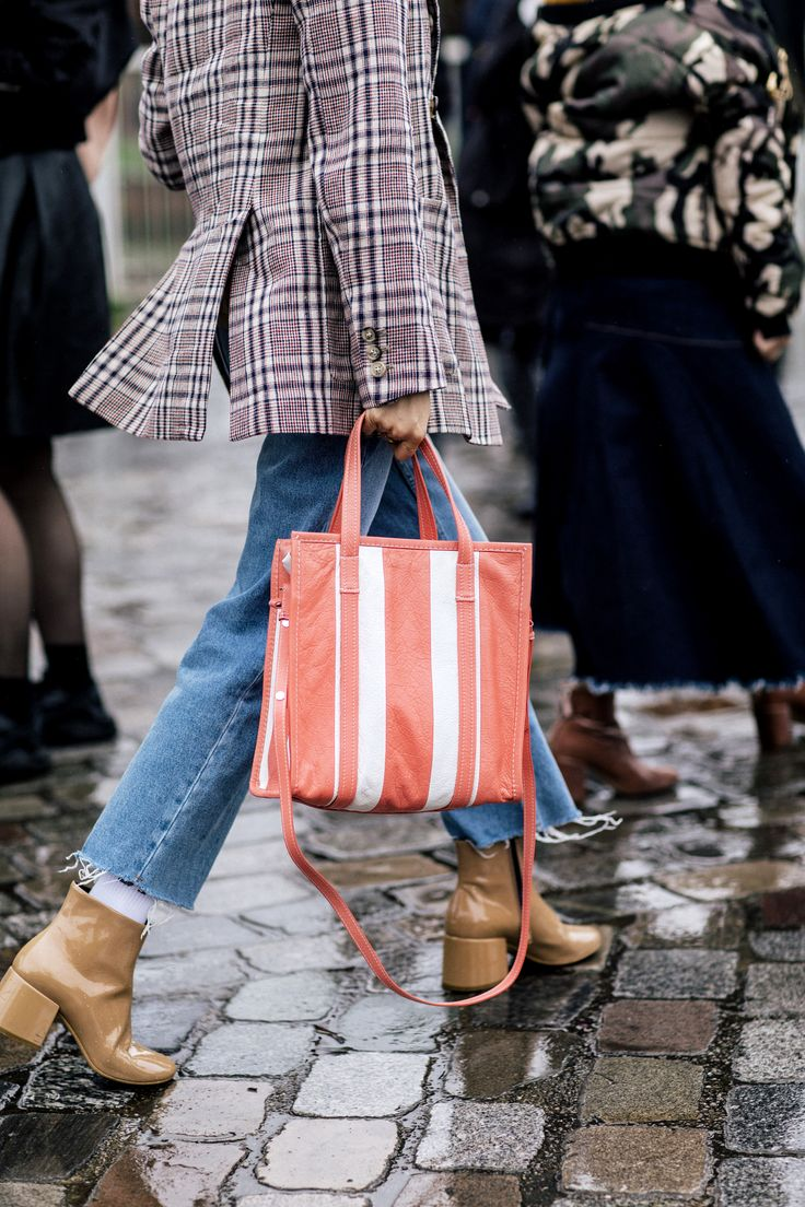 The cult bag of fashion week? Balenciaga's Bazar - spotted at PFW.