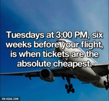 Could be helpful - when to buy airplane tickets