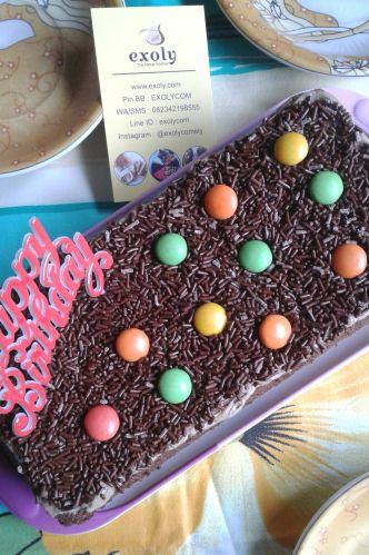 Brownies Kukus Meises Ulang Tahun