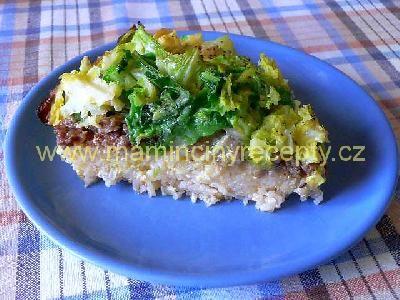 Kapusta zapečená s masem a rýží