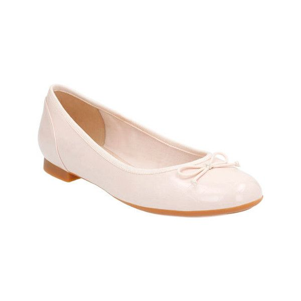 Women's Clarks Couture Bloom Ballerina Flat - Nude Pink Croc Casual ($75) ❤ liked on Polyvore featuring shoes, flats, crocs flats, ballerina pumps, nude ballet flats, pink ballet shoes and slip on shoes