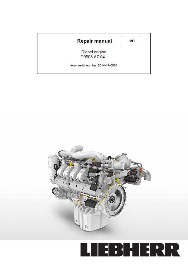 engine repair diagram liebherr d9508 a7 04 diesel engine workshop repair service manual  liebherr d9508 a7 04 diesel engine