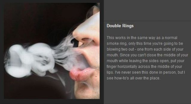 I'm gonna call these Vape tricks or vapor tricks rather than smoke tricks!