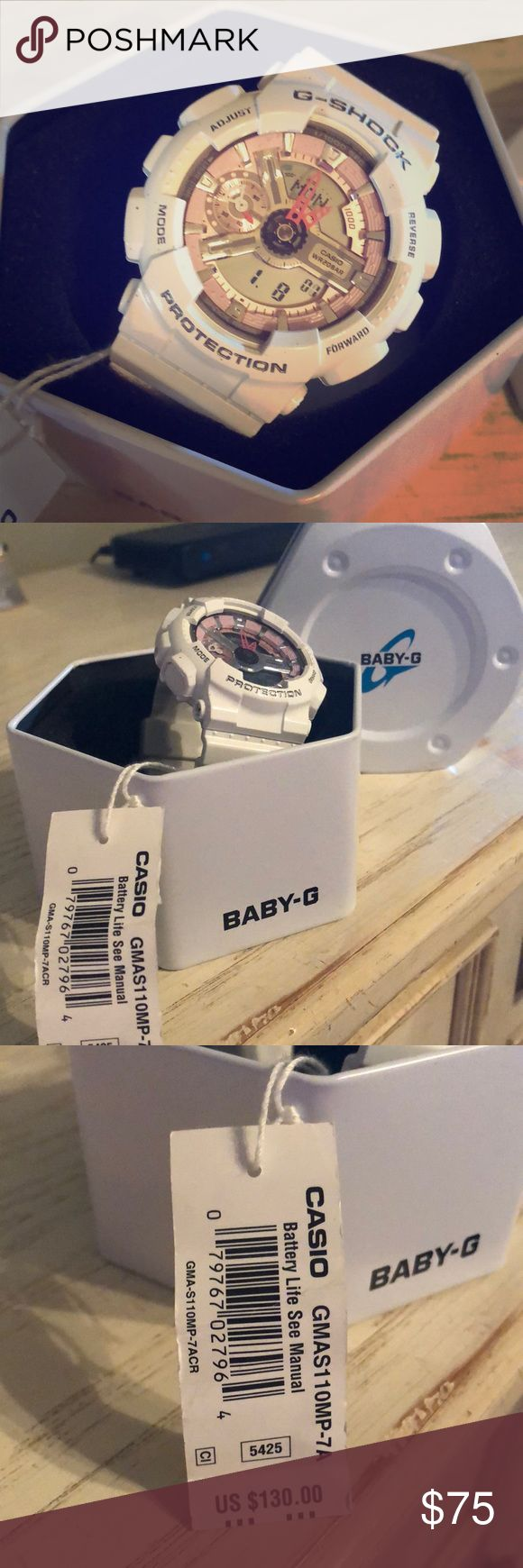 Casio Baby G Shock Watch Beautiful Casio Baby G shock watch   White  NWT   Case included Casio Accessories Watches