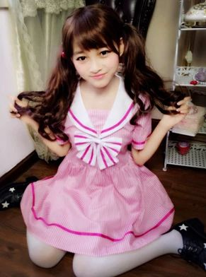 Pink bowknot sailor kawaii dresses