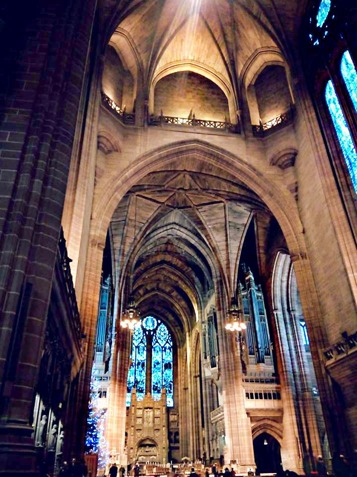 The #LiverpoolCathedral, Britain's largest #church and the 8th largest church in the world. Looking up at the ceiling here made my head spin. #liverpool #england #uk #travel #architecture #anglican #cathedral #gothic
