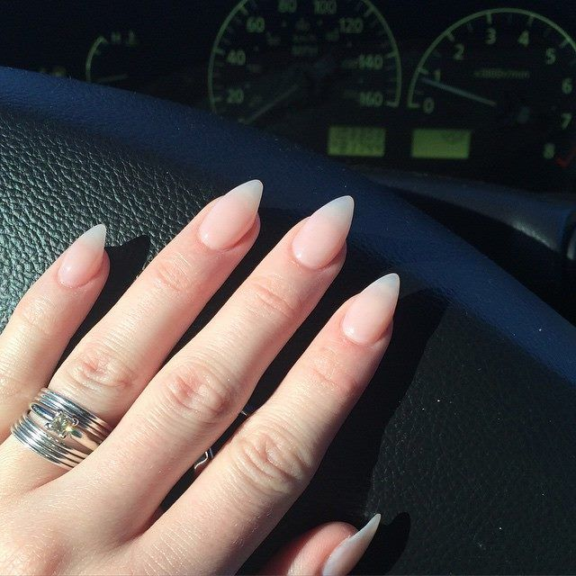 Gorgeous Natural Stilleto Nails