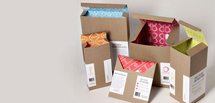 kraft brown outside, colorful pattern lining on the inside | #packaging #box #pattern cookit_4.jpg