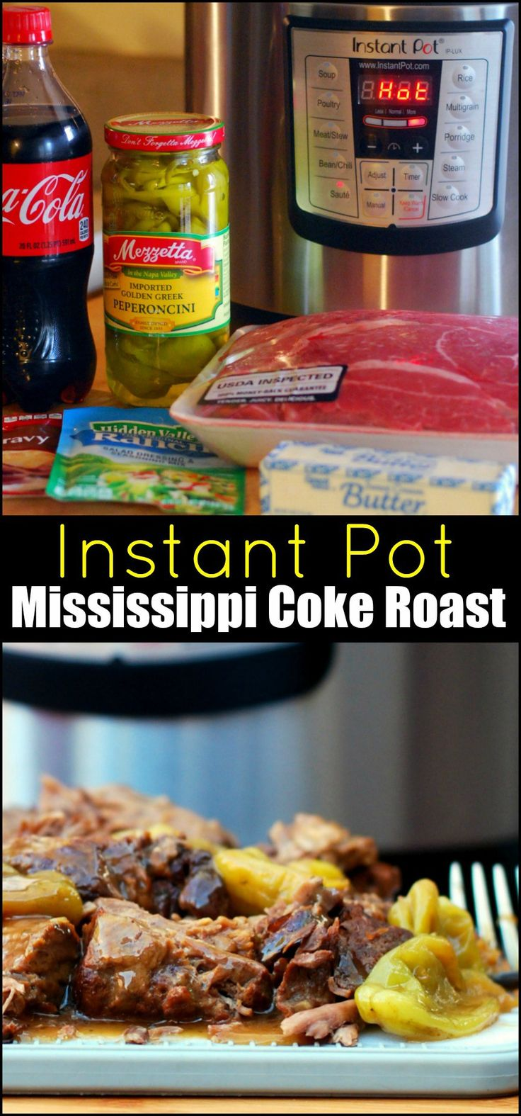 Wonderful!  Fast and the meat just falls apart.  Instant Pot Mississippi Coke Roast | Aunt Bee's Recipes